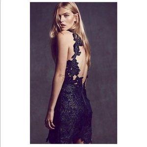 Free People Saylor Jessa Black lace dress